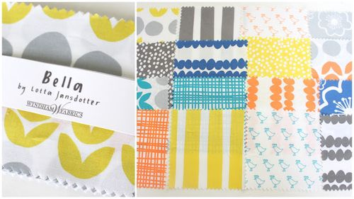 Lotta Jansdotter Bella charm squares fabric