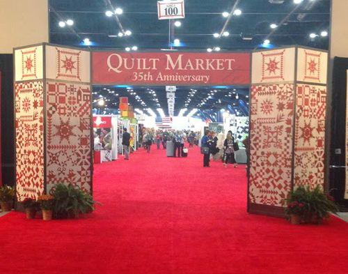 Quilt market entrance
